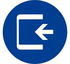 Plaque porte alu ou pvc picto rond Logo entrée