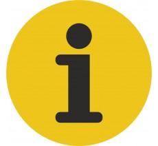 Plaque porte alu ou pvc picto rond information