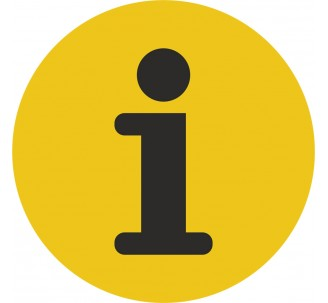 Plaque porte alu brossé picto rond information