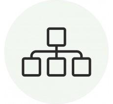 Plaque porte alu ou pvc picto rond réseau