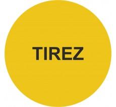Plaque porte alu ou pvc picto rond Tirez