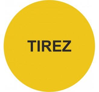 Plaque porte alu picto rond Tirez
