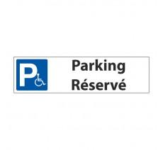 """Panneau de signalisation """"Parking réservé handicapés"""""""
