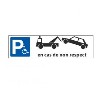 """Panneau de signalisation """"Parking, en cas de non respect, fourrière"""""""