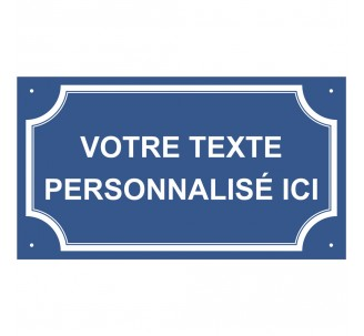 """Plaque de rue en alu """"Votre texte personnalisé"""""""