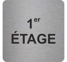 Plaque porte alu ou pvc picto carré 1er Etage