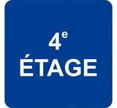 Plaque porte alu ou pvc picto carré 4e Etage