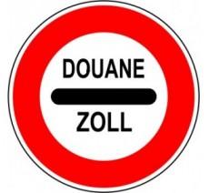 """Kit ou panneau seul type routier """"Arrêt au poste de douane"""" ref: B4"""