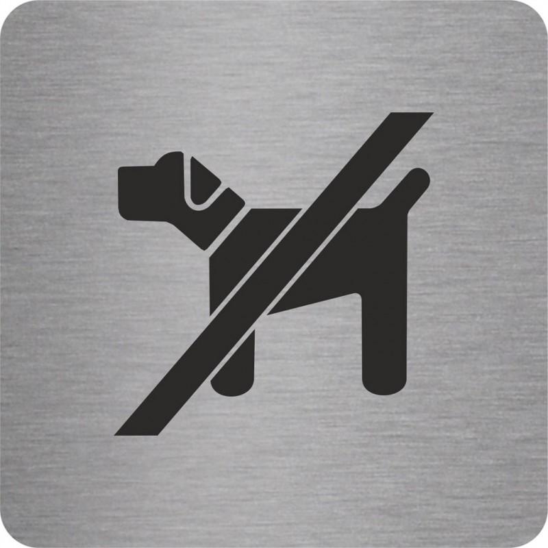 plaque porte alu ou pvc picto carr interdit aux chiens. Black Bedroom Furniture Sets. Home Design Ideas