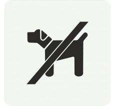Plaque porte alu ou pvc picto carré interdit aux chiens
