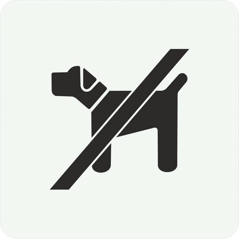 plaque porte alu bross picto carr interdit aux chiens. Black Bedroom Furniture Sets. Home Design Ideas