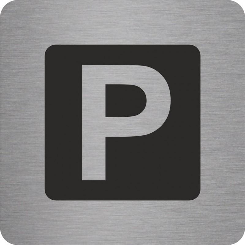 plaque porte alu ou pvc picto carr e parking. Black Bedroom Furniture Sets. Home Design Ideas