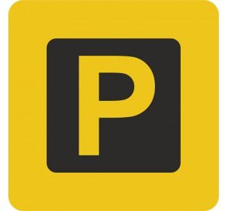 Plaque porte alu brossé picto carrée parking