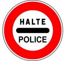 """Kit ou panneau seul type routier """"Arrêt au poste de police"""" ref: B5b"""