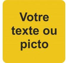 Plaque porte alu ou pvc picto carré texte personnalisé