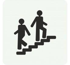 Plaque porte alu ou pvc picto carré escalier