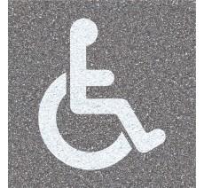 """Pochoir en bois """"Handicapé"""""""