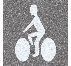 "Pochoir en bois ""Cycliste"""