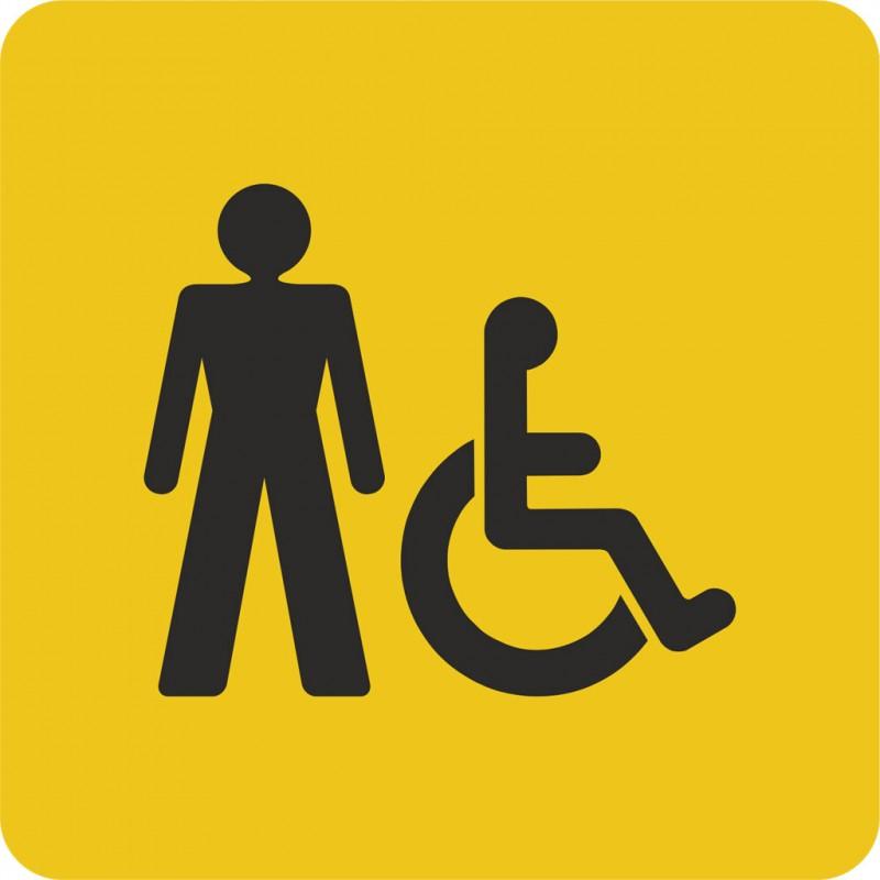 plaque porte alu bross picto carr toilettes homme handicap. Black Bedroom Furniture Sets. Home Design Ideas