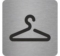Plaque porte alu ou pvc picto carré vestiaires