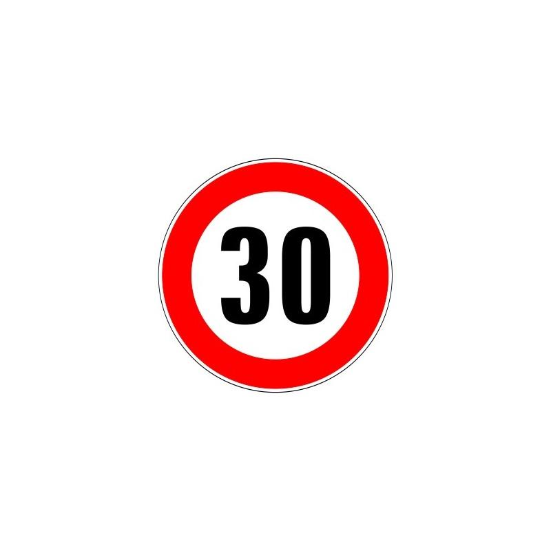 panneau routier limitation de vitesse interdiction de d passer 30 kmh. Black Bedroom Furniture Sets. Home Design Ideas