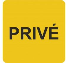 Plaque porte alu ou pvc picto carré privé