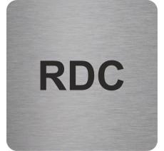 Plaque porte alu ou pvc picto carré RDC