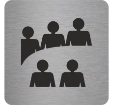 Plaque porte alu ou pvc picto carré Logo salle de réunion