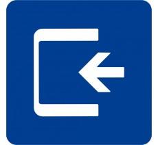 Plaque porte alu ou pvc picto carré Logo entrée