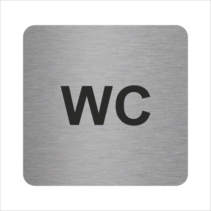 plaque porte alu ou pvc picto carr wc. Black Bedroom Furniture Sets. Home Design Ideas