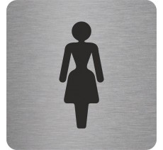 "Pictogramme en alu en relief ""Toilettes Femmes"""