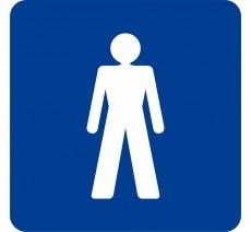 """Pictogramme en relief """"Toilettes Hommes"""", 5 coloris au choix"""