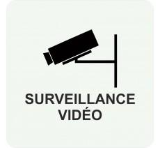Plaque porte alu ou pvc picto carré surveillance vidéo