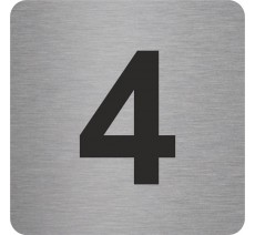 Plaque porte alu ou pvc picto carré 4
