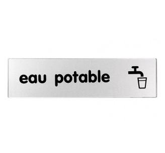 Plaque de porte plexi argent eau potable