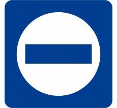 Plaque porte alu ou pvc picto carré sens interdit