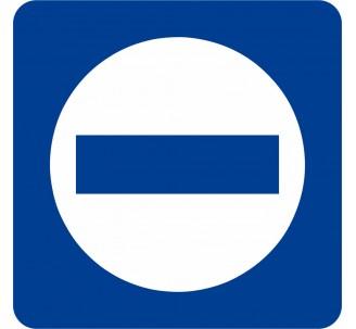 Plaque porte alu brossé picto carré sens interdit