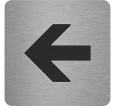 Plaque porte alu ou pvc picto carré flèche à gauche
