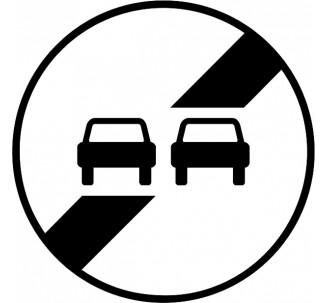 """Kit ou panneau seul type routier """"Fin d'interdiction de dépasser"""" ref: B34"""