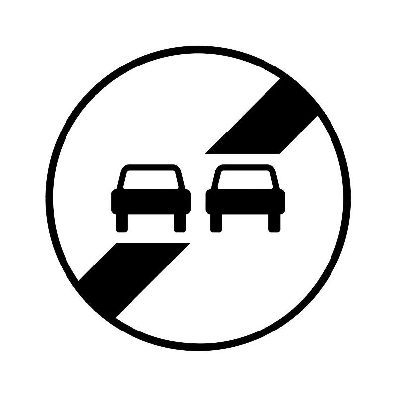 panneau type routier fin d 39 interdiction de d passer ref b34. Black Bedroom Furniture Sets. Home Design Ideas