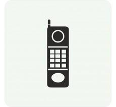 Plaque porte alu  picto carré téléphone