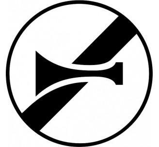 """Kit ou panneau seul type routier """"Fin d'interdiction de l'usage de l'avertisseur sonore"""" ref: B35"""