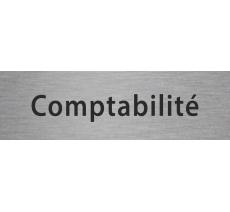 """Plaque de porte en alu ou pvc gravé """"comptabilité"""", coloris au choix"""