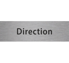 "Plaque de porte ""direction"" alu ou pvc"