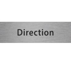 Plaque porte alu gravé direction