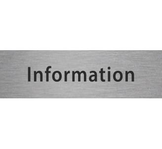Plaque porte alu gravé information