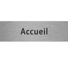 """Plaque de porte en aluminium gravé """"accueil"""", coloris au choix"""