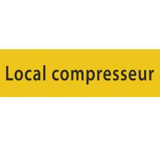 "Plaque de porte en alu gravé ""local compresseur"""