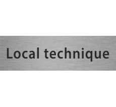 "Plaque de porte ""local technique"" - plusieurs options"