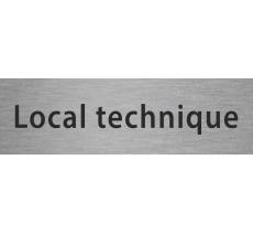 """Plaque de porte en alu gravé """"local technique"""""""